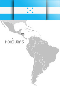 Map of Honduras